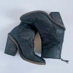 FREE PEOPLE Marquis Heel Boots Black 38 7 7.5